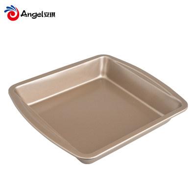 百钻10寸方形芝士蛋糕模具 家用不粘饼干烤盘 烘焙工具蛋糕磨具