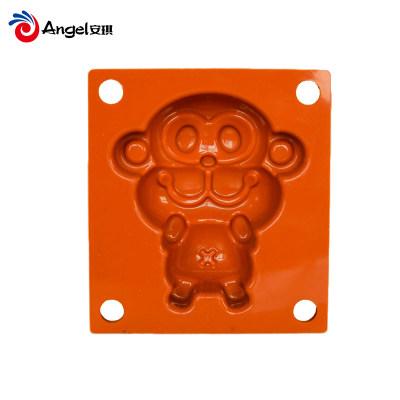烘焙器具百钻米发糕硅胶模具 卡通小猴子型蛋糕模 家用烘焙工具