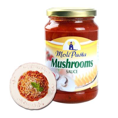 莫利牌意大利面酱 番茄蘑菇味意面搭档调味酱 意面酱原装进口350g