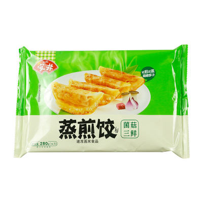 安井菌菇三鲜猪肉蒸煎饺280g(14只)*1袋