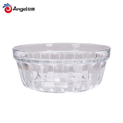 百钻圆形玻璃碗 透明水果沙拉碗家用餐具烘焙原料分料碗调料碗
