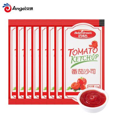 百钻番茄沙司番茄酱10g*10袋装 意大利面酱 汉堡披萨手抓饼薯条酱料套餐