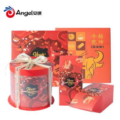 百钻年货礼盒系列新年抱抱桶礼品盒曲奇雪花酥牛轧糖蛋黄酥包装盒