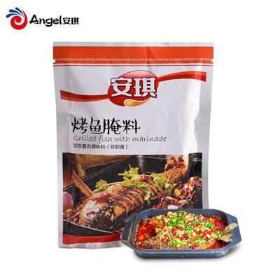 安琪烤鱼腌料 复合调味料锡纸烤鱼佐料 烤肉腌制调料烧烤撒料140g