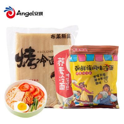布莱斯奥朝鲜族风味小麦冷面片大面皮真空装东北小吃烤冷面家庭装