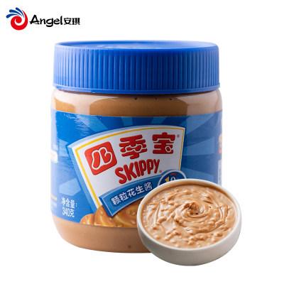 四季宝颗粒花生酱 面包饼干伴侣拌面酱 火锅调料蘸料烘焙原料340g