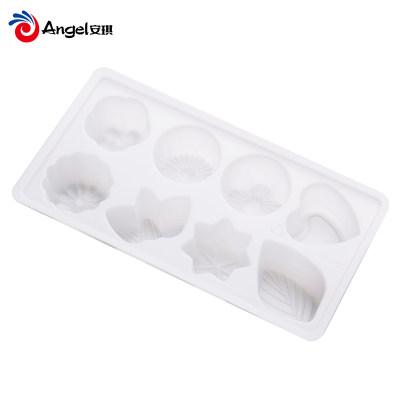 百钻八格布丁果冻模 制冰盒塑料冰格 烘焙绿豆糕点冰淇淋模具