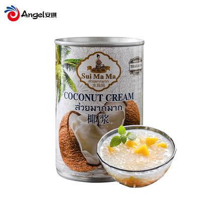 水妈妈牌椰浆 泰国进口椰汁千层糕材料 椰奶西米露原料400ml罐装