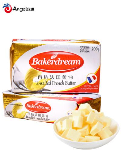 百钻食用黄油块动物性发酵烘培家用煎牛排做面包饼干烘焙原料200g