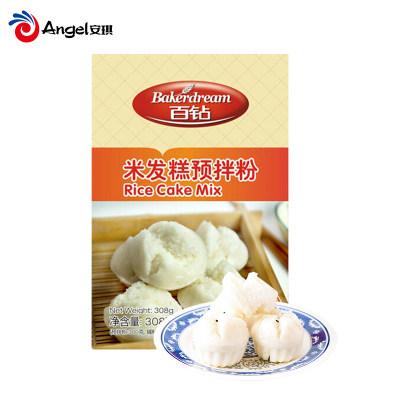 安琪百钻米发糕预拌粉做米糕专用大米粉湖北特产308g*4盒