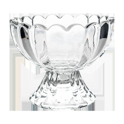 百钻冰淇淋玻璃碗3个组合装 水果汁杯玻璃奶茶杯甜品杯创意冰激凌碗雪糕杯