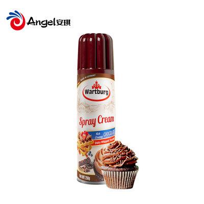 【嗨吃季】沃特堡巧克力味喷射稀奶油250g即食免打发淡奶油蛋糕裱花烘焙材料