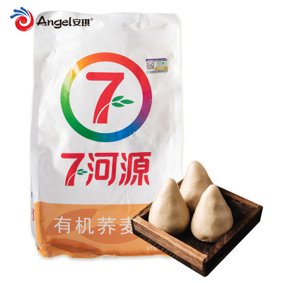七河源有机荞麦粉 家用纯荞麦面粉做粗粮馒头面条烘焙原材料1.5kg