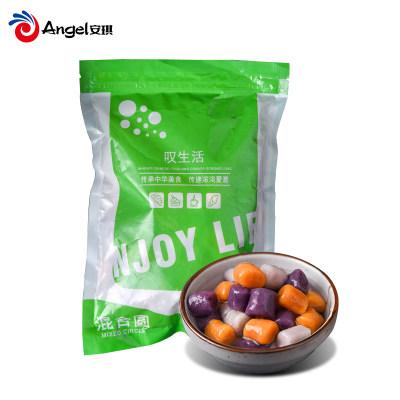 叹生活大芋圆混合装500g大粒紫薯地瓜丸子组合 自制奶茶甜品原料