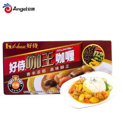 好侍咖王咖喱 猪肉鸡肉牛肉饭酱料 日式块状咖喱调料(中辣)90g