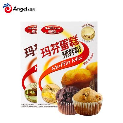 百钻玛芬蛋糕预拌粉 烤箱做玛芬蛋糕烘焙原料 原味/巧克力味300g(2盒起售)