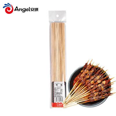 百钻烧烤竹签30cm 一次性家用50根麻辣烫烤羊肉串串签子烧烤工具