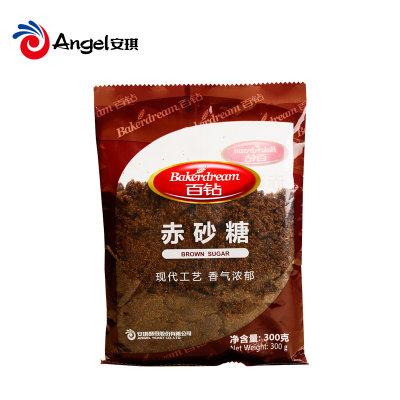 百钻赤砂糖红糖蔗糖 餐饮煲汤调味品 冲饮烘焙烹饪袋装食糖300g
