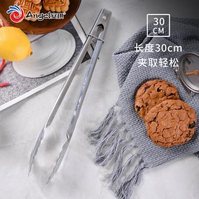 百钻食品夹 烧烤牛排不锈钢夹子 家用厨房蛋糕面包食物夹烘焙工具