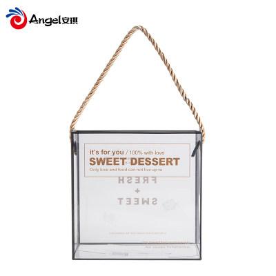 雪花酥牛轧糖包装盒 透明塑料饼干盒子 独立包装糖纸新年礼盒套装