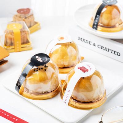 百钻月饼包装盒蛋黄酥透明吸塑盒绿豆糕雪媚娘中秋冰皮月饼点心盒