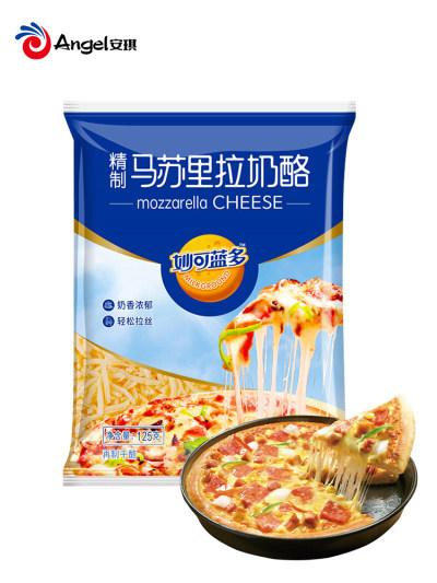 妙可蓝多马苏里拉芝士碎 家用做披萨材料烘焙配料拉丝奶酪125g