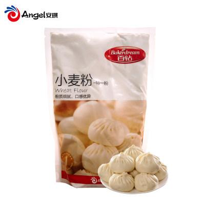 【新春精选】百钻小麦粉中筋面粉家用馒头包子饺子中式面点原料中筋粉500g