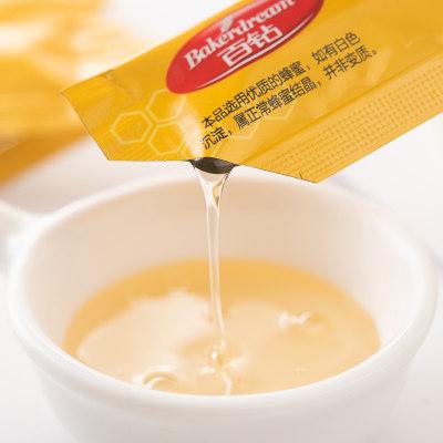 百钻蜂蜜百花蜜 家用做甜品原料便携奶茶冲饮蜜糖小袋装15g*10条