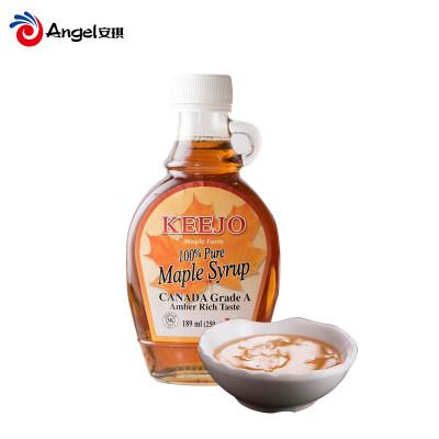 Keejo柯卓牌枫糖浆加拿大原装进口maple syrup烘焙枫树糖浆189ml