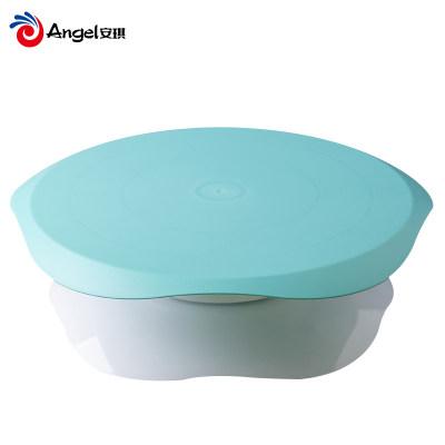 百钻裱花台烘焙转台生日蛋糕转盘底座裱花架家用做蛋糕抹奶油工具(绿色)