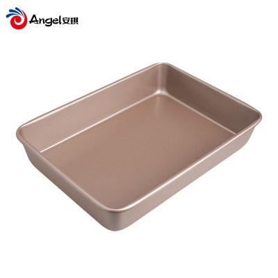 百钻家用长方形烤盘 烤箱不粘深方盘 蛋糕卷面包饼干模具烘焙工具