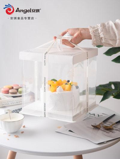 百钻6寸8寸生日蛋糕盒子 方形天地盖戚风蛋糕盒西点烘焙包装纸盒