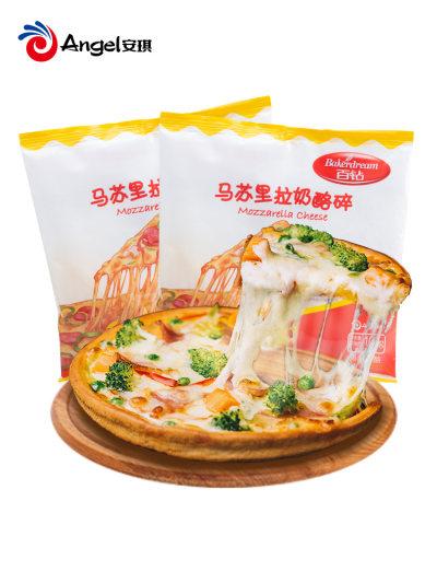 百钻马苏里拉芝士碎披萨拉丝焗饭材料家用烘焙起司奶油奶酪100g
