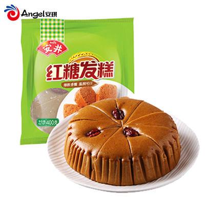 安井红糖发糕 速冻馒头红枣糕 家用早餐点心香软传统糕点400g*2袋