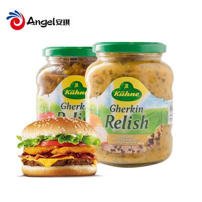 冠利低脂芥末青瓜蓉汉堡酱350g三明治酸黄瓜黄芥末酱面包酱料