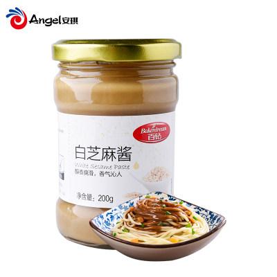 百钻白芝麻酱 火锅蘸酱调味料 早餐面包涂抹凉皮热干面拌面酱200g