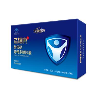 安琪纽特益福康酵母硒酵母多糖胶囊礼盒(内含0.5g×60粒×3瓶)